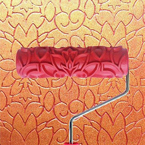 Generico - 7 pollici rullo da pittura crea effetto rilievo con manico per decorazioni pareti casa motivo #8
