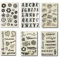 Pack de sellos de silicona, diseños variados, para scrapbooking, decoración