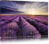 Traumhafte Lavendel Provence Format: 60x40 auf Leinwand, XXL riesige Bilder fertig gerahmt mit Keilrahmen, Kunstdruck auf Wandbild mit Rahmen, günstiger als Gemälde oder Ölbild, kein Poster oder Plakat