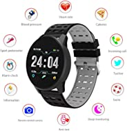 Heart Rate Fitness Tracker, Layopo Waterproof Bluetooth Unlocked Smart Watch Touch Screen Pedometer Sports Wrist Watch for M