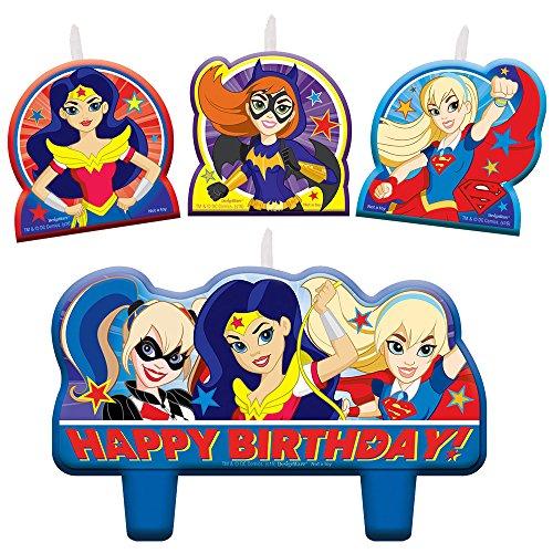 Mädchen Kerze Geburtstag Set (Mädchen Superhero Party Supplies)