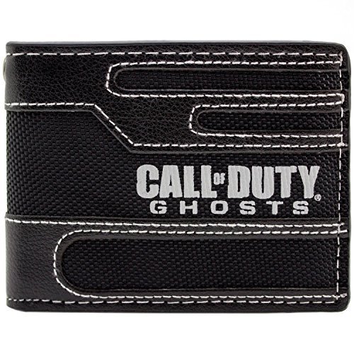Activision Call Of Duty Ghosts Genähte Stil Schwarz Portemonnaie Geldbörse (Call Of Duty Kostüm)