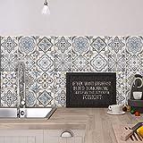 24 (Piezas) Adhesivo para Azulejos 15x15 cm - PS00023 - Firenze - Adhesivo Decorativo para Azulejos para baño y Cocina - Stickers Azulejos - Collage d