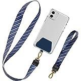 takyu Handykette Universal, Schlüsselband Lanyard Schlaufe Abnehmbar Umhängeband Kompatibel mit allem Handy (1 Halsband+1 Han