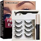 Ciglia Magnetiche,Ciglia finte,Eyeliner Liquido,Ciglia Magnetiche con Eyeliner Magnetico,Impermeabile Liquido Eye Liner Pen M