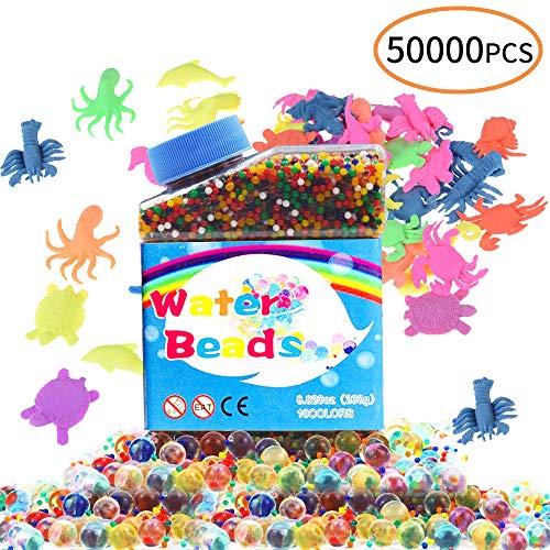 0c8fa4d70 caicainiu Gel Soil Crystal Beads 50.000 Colorido Jelly Water Gemstone  Jarrón Rellenos, 20 Piezas de