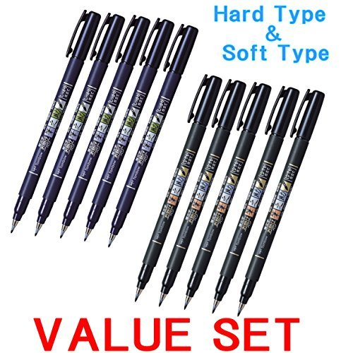 Tombow fuden osuke Brush Pen - Hard Type & Soft