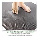 Zenyo Yogamatte FOAM PRO mit Memory-Schaumstoff | Spüre den Unterschied -