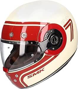 Smk Eldorado Seven Integralhelm Weiss Rot Xl Auto