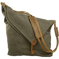 Canvas Tasche,P.KU.VDSLCanvas Umhängetasche Damen Schultertasche Crossbody Bag Mädchen Shoulder bag Messenger Bag…