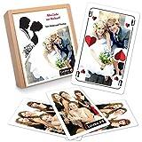 Personalisiertes Schafkopf (Doppelkopf, Schnapsen, Gaigel) mit ihren Fotos - Einfachspiel in personalisierter Holzbox