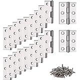 Scharnierband, stangscharnier, 20 stuks deurbandscharnier, scharnier, scharnier, scharnier, scharnieren met 6 montagegaten, s