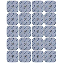 20 electrodos para Beurer Hydas y Vitalcontrol SEM 40//42 /43/44 (45x45mm), almohadillas conexión de botón 3,5mm