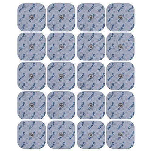 ems elektroden 20 Stück. Druckknopf - Elektroden Pads, passend zu TENS - EMS Geräten: Sanitas SEM 40, 41, 42, 43, 44 u. Beurer EM 40 / EM 41 / EM 80