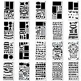 KUUQA 20 Piezas Bullet Journal Stencil Set Plantilla de dibujo Plantilla para Journal / Notebook / Diary / Scrapbook / Art Craft Projects / Schedule Book DIY, 4x7 pulgadas