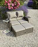 greemotion Rattan-Lounge Bahia Rondo, Sofa & Bett aus Polyrattan, indoor & outdoor, 2er Garten-Sofa mit Stahl-Gestell, Daybed, braun-beige - 9