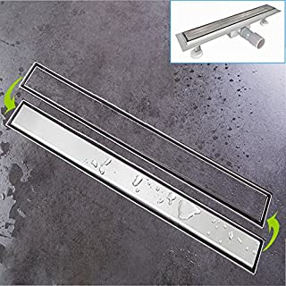 Duschrinne Siphon 50cm Edelstahl Ablaufrinne Geruchsstop Bodenablauf Duschablauf Bodenbefestigung Maße von 50 bis 100cm wählar
