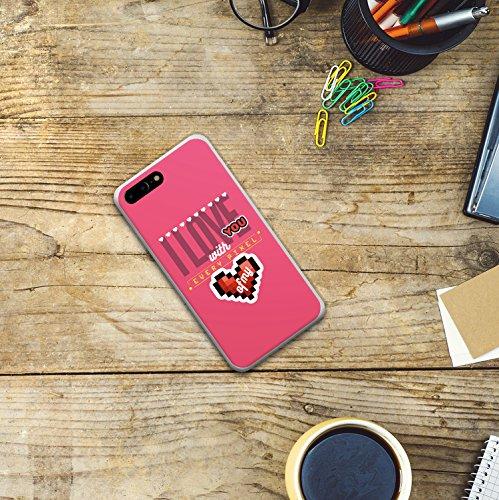 iPhone 7 Plus Hülle, WoowCase Handyhülle Silikon für [ iPhone 7 Plus ] Astronaut Herz - I Love To the Moon And Back Handytasche Handy Cover Case Schutzhülle Flexible TPU - Transparent Housse Gel iPhone 7 Plus Transparent D0472
