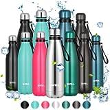 Amazon Brand - Umi Borraccia Termica, 500 ml Bottiglia Acqua in Acciaio Inox, Senza BPA, 24 Ore Freddo & 12 Caldo…