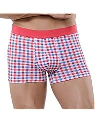 xuba hommes Sous-vêtements de Sexy pour homme confortable en coton pour homme Motif écossais