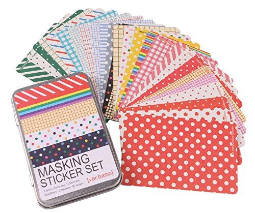 27 Blätter Schreibwaren Zinn scrapbooking Pastell Markierband craft Aufkleber dekorative DIY memo-Planer (Niedliche Halloween Hausgemachte Dekoration)