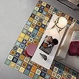 JY ART VZYX Fliesenaufkleber Dekorative Wandgestaltung mit Fliesenaufklebern für Küche und Bad, Deko-Fliesenfolie für Küche u. Retro-Muster Bodenaufkleber CZ055, 20cm*100cm*2pcs