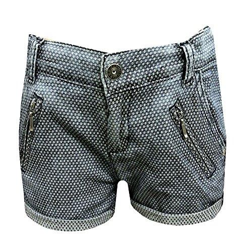 Blue Effect Mädchen Jeans-Shorts kurze Hose gemustert in blue denim, Größe:158, Farbe:blue denim