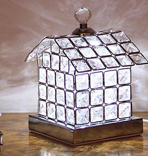 Moderne einfache Kristall Schreibtisch Lampe kleines Haus dekorative Tischlampe Bedside Reading Home Office Für Kinder , silver