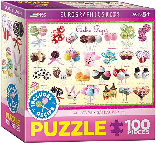 Eurographics Puzzle 100 Pc - Kids Sweet Puzzles - Cake Pops (6x6 box) (EG81000518) (Boxen Cake Pops)