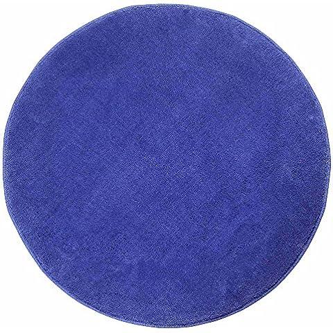 Homescapes Alfombra Redonda Color Azul 150 cm Diámetro