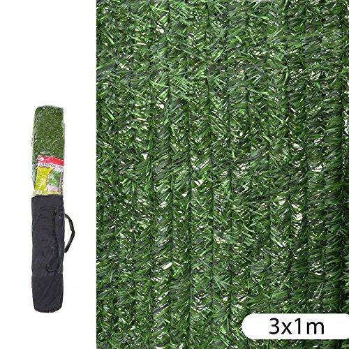 Ldk Garden 82181 Seto Artificial de ocultación para jardín, Verde, 300x100x20 cm
