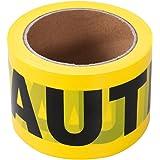 UEETEK 100M Barricade Lint Gevaar Tape Veiligheid Voorzichtigheid Tape Waarschuwingstape (YELLOW)