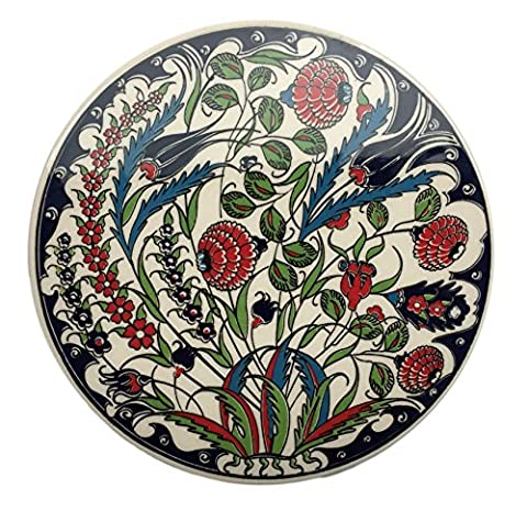 Turkish Trivet Home House Garden Ceramic Tile Ottoman Design Hot Pot Stand Plate