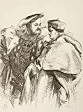 Ken Welsh / Design Pics - Illustration By Sir John Gilbert For King Henry Viii By William Shakespeare. King Henry With Cardinal Wolsey. From The Illustrated Library Shakspeare Published London 1890. Photo Print (30.48 x 43.18 cm)