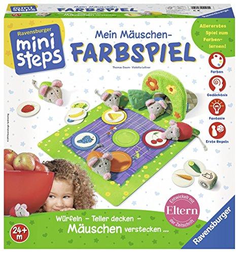 Ravensburger-ministeps-04495-Mein-Muschen-Farbspiel Ravensburger ministeps 04495 – Mein Mäuschen-Farbspiel -