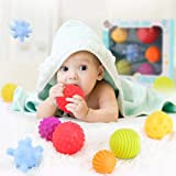 Babies Bloom 6 pcs Sensorial Touch Multiple Textured BabyToys/ Rattle Balls with Soft Touch/Baby Toys/Early Learning…