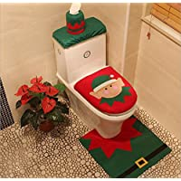 Toilet Seat Cover Set, MOACC Natale tappeto & Tissue Box