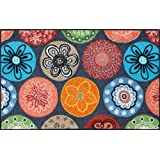 Wash Dry 052029 Tapis Bouquet Of Flowers Nylon Caoutchouc Nitrile 50 X 75 Cm