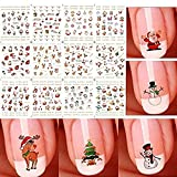 Nail Art Stickers Calcomanías, Starworld Christmas 12 Piezas 3D Nail...