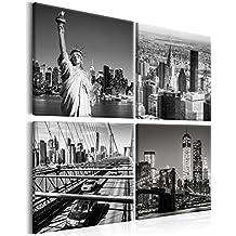 Deko Schwarz Weiss Wohnzimmer Murando Bilder New York 80x80 Cm