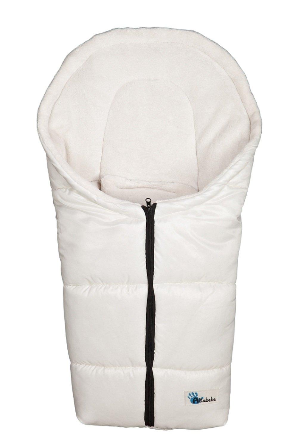 AltaBeBe, Sacco termico invernale per seggiolino da auto, Bianco (offwhite - whitewash)