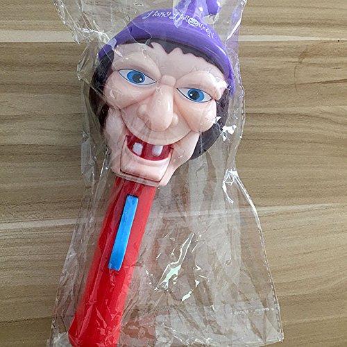 Zantec Kreatives lustiges Halloween Spielzeug Geist Hexe Kopf Auge leuchtender Stock Schrecklicher Ton Nachtclub aufregendes Party Geschenk