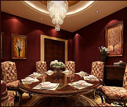 Marokkanische Schlafzimmer Dekor (Tapete Fototapete Wallpaper Einfache PVC Tapete Tapete schlicht einfarbig Wein rot Wein rot Schlafzimmer Wohnzimmer Teppichboden Tapete)
