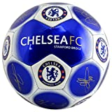 Chelsea Official New Signature Edition Crest Football - Metallic, Size 5