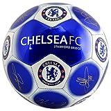 Chelsea, pallone da calcio ufficiale, con stemma e firme–tema: metallizzato, misura 5