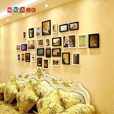 hjky Bilderrahmen Wall Set Massivholz in Herzform Wand Bilder groß