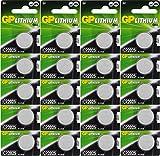 Batterien CR2025 CR 2025 (CR2025e) 3v Knopfbatterien/Lithium Knopfzellen 3 Volt für verschiedenste Geräte- und Verbraucheranwendungen, (20-er Pack GP Markenware, Batterien einzeln entnehmbar)