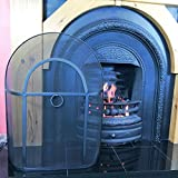"Arch Fire Guard / Fire Screen / Spark Guard for Lombard Sorrento Curve Top Fireplace 28"" x 21"""