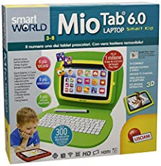 Idea Regalo - Lisciani Giochi 55623 - Mio Tab Laptop Smart Kid HD 16 GB