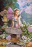 Unbekannt PUZZLE 1500 Teile - Mädchen Engel Paradies Frühling - Traum Kinder gemalt Blumen - Engelchen